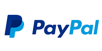 Logotype of PayPal. Choose to pay with this payment channel.